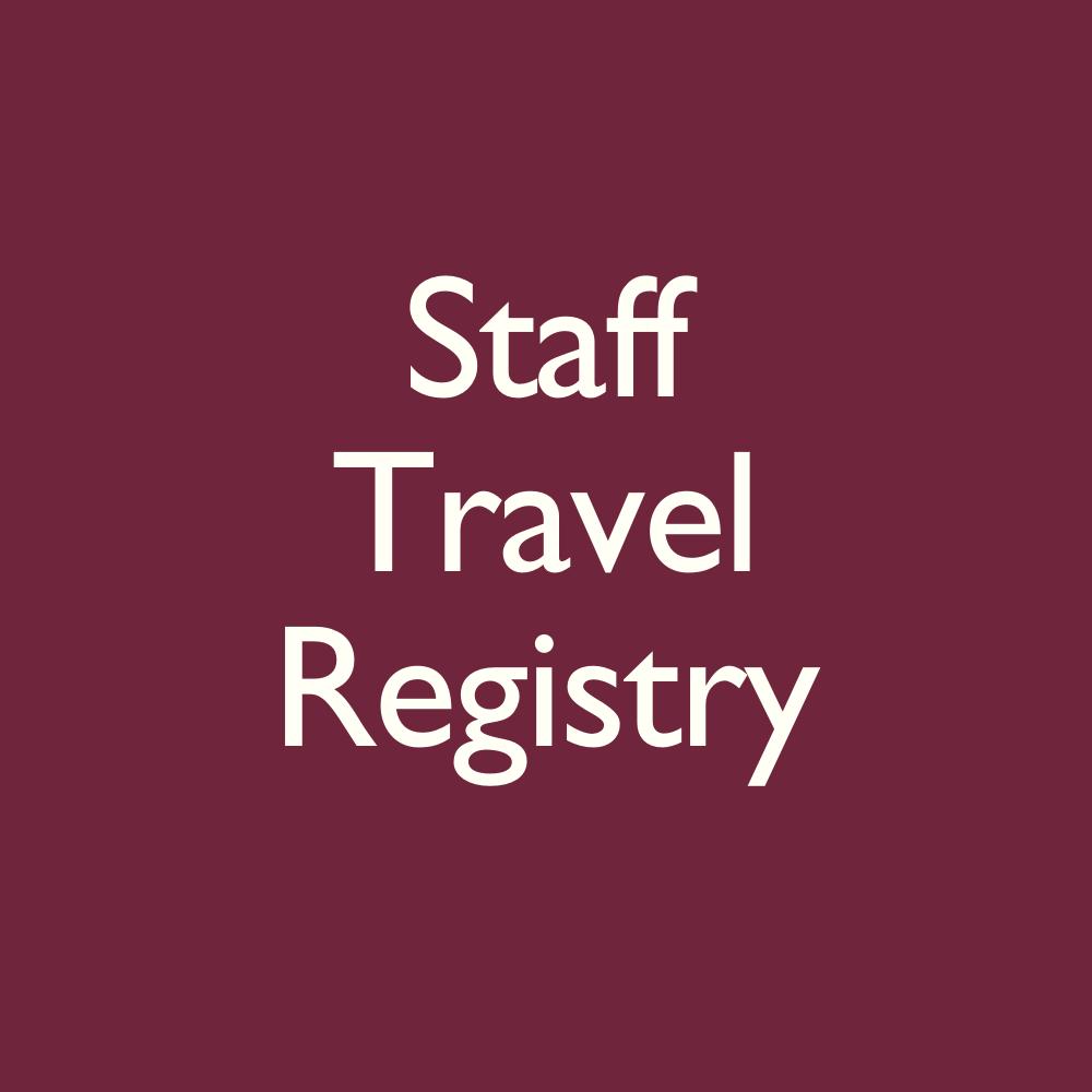 Staff Travel Registry
