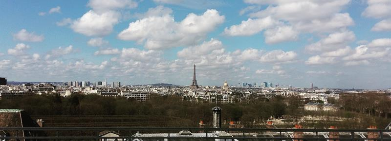 eifel tower in the background
