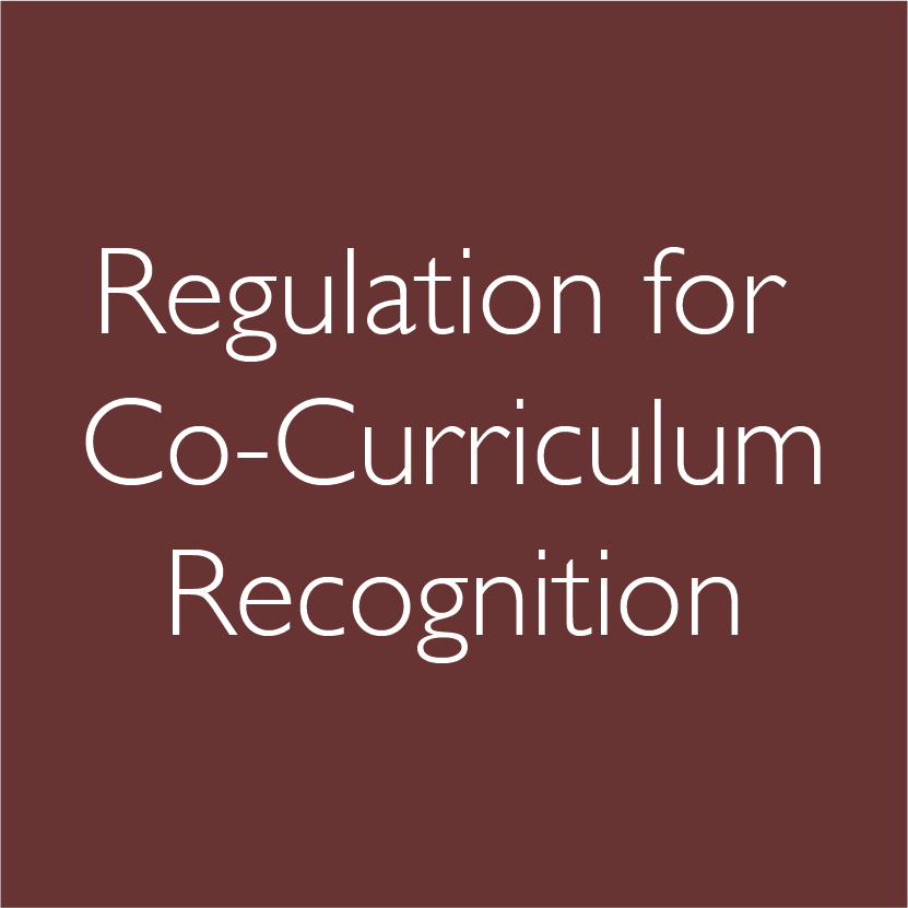 Regulation for Co-Curriculum Recognition
